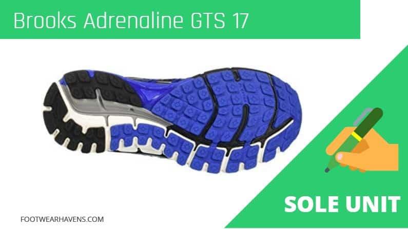 Brooks Adrenaline GTS 17 Sole Unit